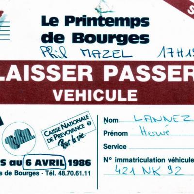 1986 04 06PRINTEMPS DE BOURGES