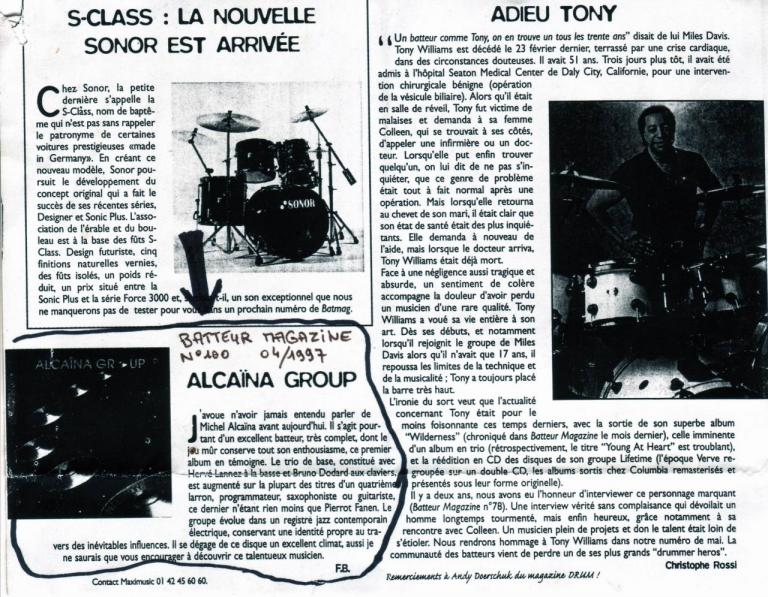 1997 04 Batteur Magazine Alcaina