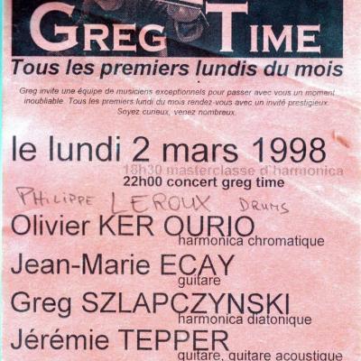 1998 03 02 concert GREG SZLAP