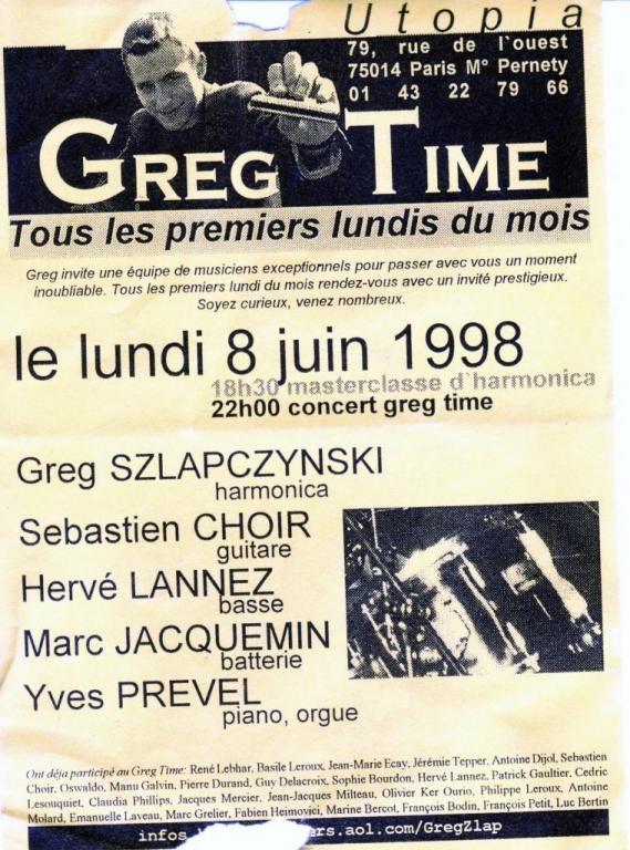 1998 06 08 concert GREG ZLAP