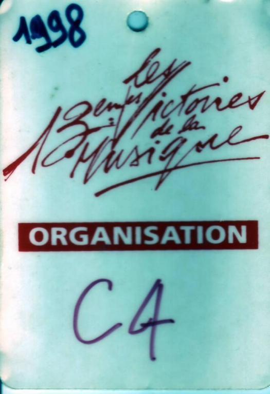 1998 Olympia Victoires de la musique Choriste pour