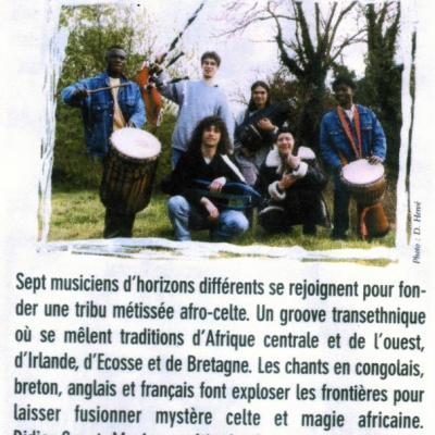 2000 D'YO Concert LE HAVRE Afro-celtique
