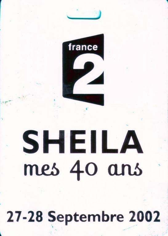2002 SHEILA mes 40 ans Drucker. Bassiste de 1999 à 2002