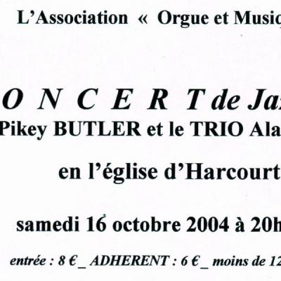 2004 10 16 BUTLER et Trio Bernard Concert jazz