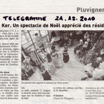 2010 12 17 Le Télégramme Ehpad Pluvigner