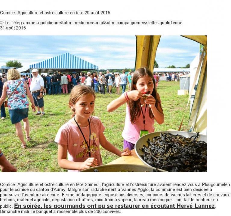 2015 08 29 Comice Agricole Plougou Le Télégramme