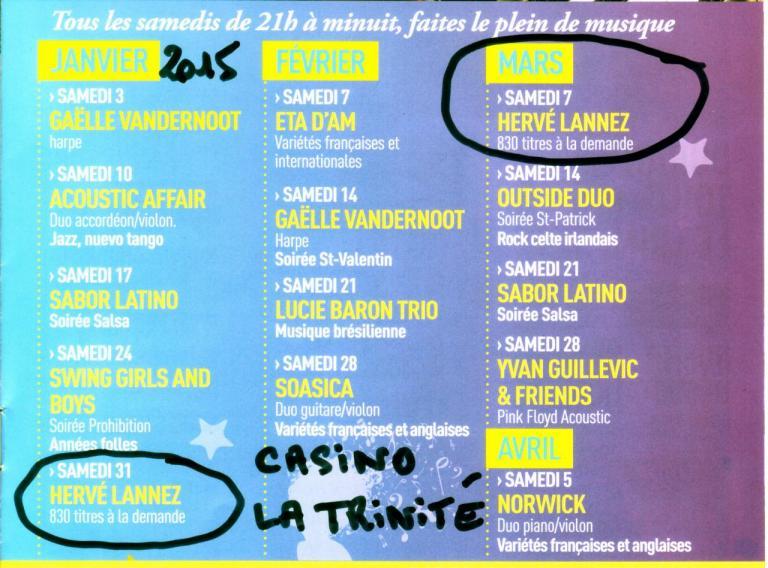 2015 1er trim Casino La Trinité