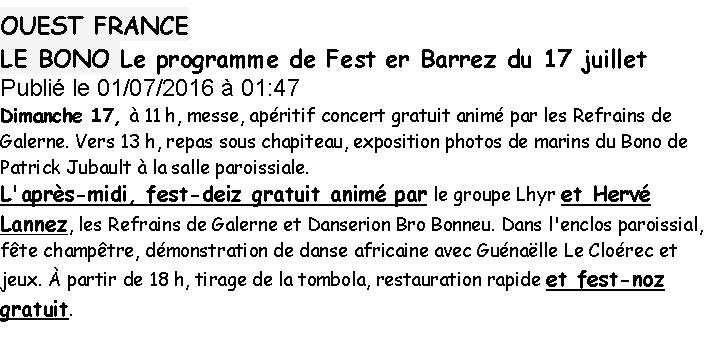 2016 07 17 FEST ER BARREZ OUEST FRANCE