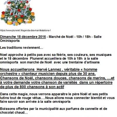 2016 12 18 Marché de Noël Pluneret