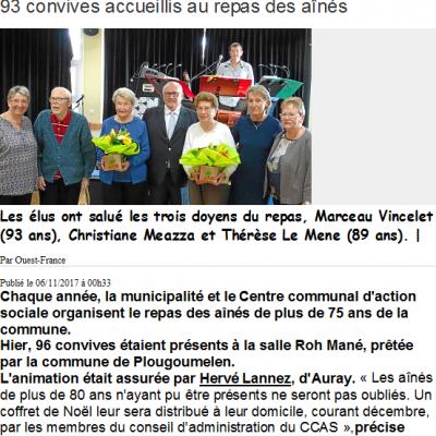 2017 11 05 CCAS LE BONO Ouest France