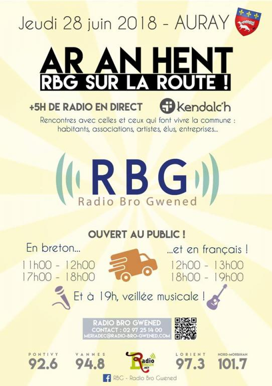 2018 06 28 RBG AR An Hent Interview et 3 chansons en direct