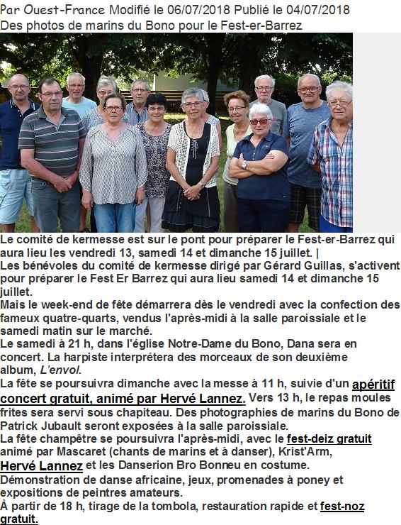 2018 07 15 OUEST FRANCE LE BONO fest er barrez