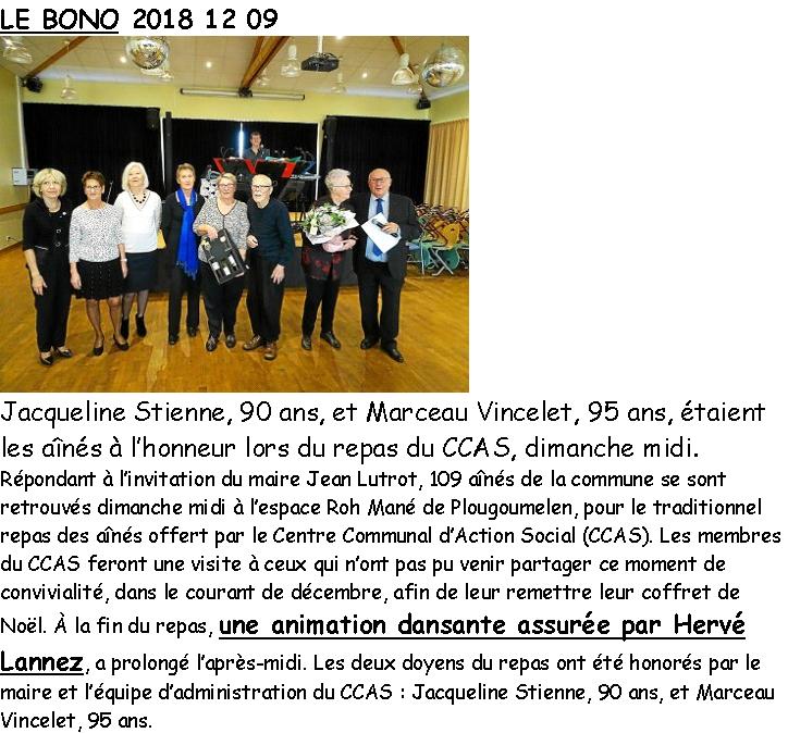 2018 12 09 CCAS LE BONO Le Télégramme