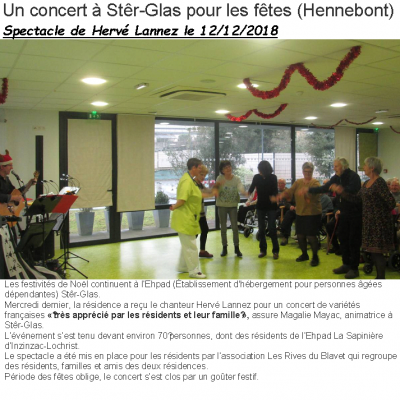 2018 12 12 EHPAD Hennebont  Ouest France
