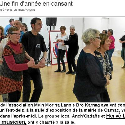 2018 12 28 Fest-Deiz Carnac  Le Télégramme