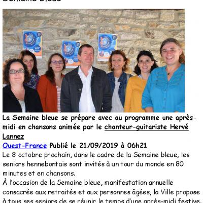 2019 10 08 Hennebont Semaine Bleue OUEST FRANCE