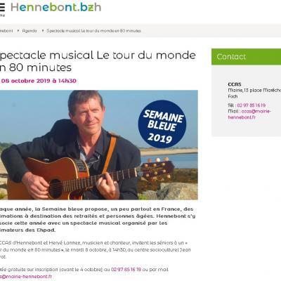 2019 10 08 Tour du Monde en 80 minutes Mairie Hennebont