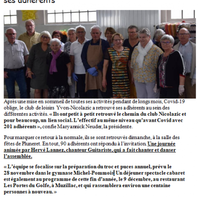 2021 10 10 ouest france club nicolazic pluneret