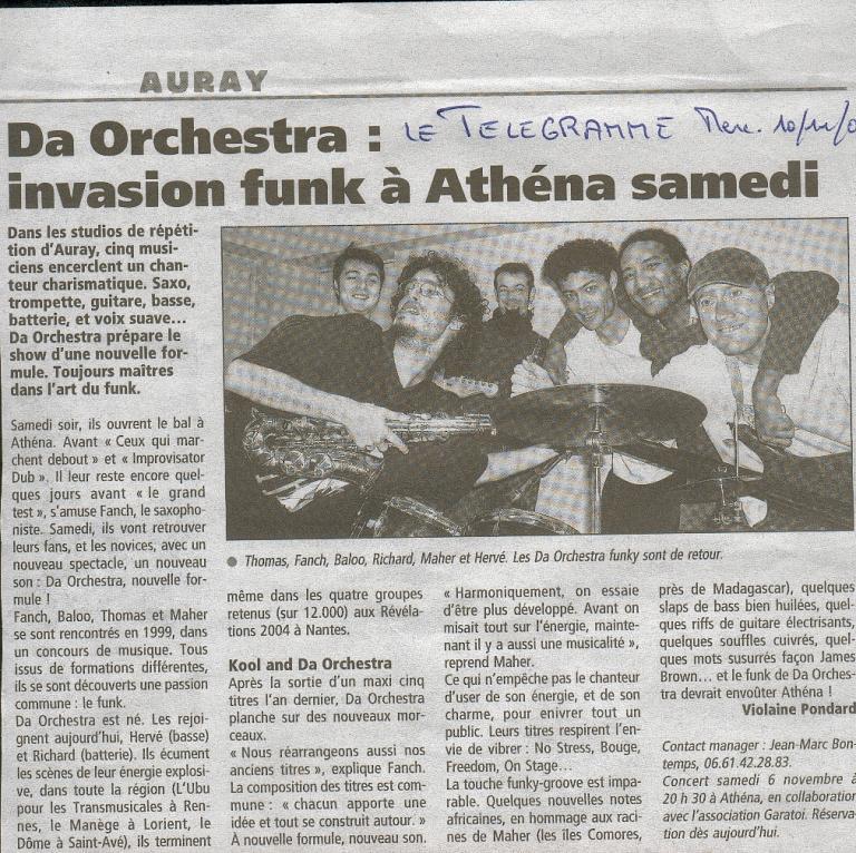 2004 11 04 DA ORCHESTRA LE TELEGRAMME